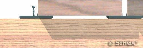 Sihga Dielenfix DF Terrassenschrauben nicht sichtbar A2 Edelstahl Holzterrasse DF 28 | ab 30 mm Dielenst/ärke | 300 Stck. Terrassenbefestigung
