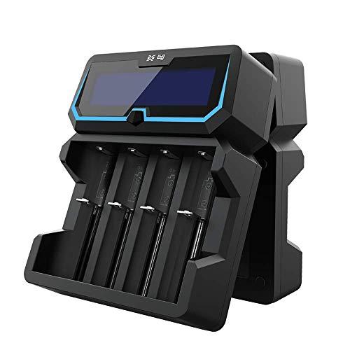 18650 Batterie ladegerät XTAR X4 2A Schnell AC Leistung Batterie ladegerät 2 Eingangs Ports LCD-Anzeige mit Power Bank…
