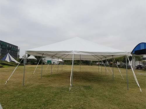 (20-Foot by 40-Foot Steel West Coast Frame Style Party Tent for Weddings, Graduations, and Events (White PE)