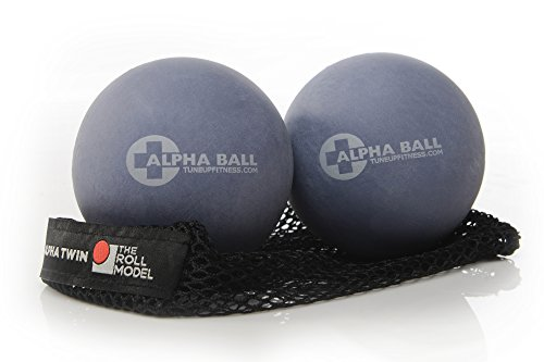 Tune Up Fitness ALPHA Twin Massage Therapy Balls, Foam Roller Replacement, Improve Mobility, Relieve Pain, Alleviate Stress, Improve Posture, Myofascial Release, Trigger Point Therapy