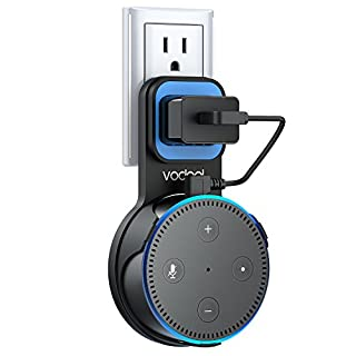 Vodool Google Home Mini Wall Mount Outlet Holder, A Space-Saving Accessories for Google Home Mini Voice Assistant, Neat Cord Management (Eblack)