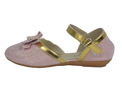 boucle filles Chaussures pour de brillantes avec Rose soirée Anww8xY1