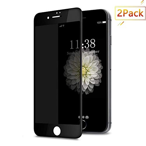 [2 Pack] iPhone 7 Plus / 8 Plus Privacy Screen Protector, GPROVA [Anti Spy][Anti-Glare][Anti-Fingerprint][Anti-Scratch] No Bubble Ballistic Tempered Glass HD Curve Edge 5.5