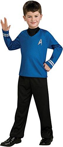 Starfleet Uniforms Costumes (Spock Kids Shirt Size: Medium (8 - 10))
