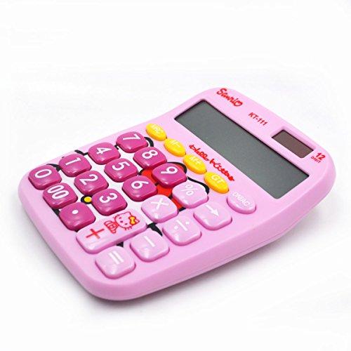 Hello Kitty Desktop - Sun Kea Cute Cartoon Desktop Calculator Electronic School Home Office Calculator Stationery Gift,Pink Hello Kitty