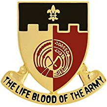 64th Support Battalion Unit Crest (The Life Blood Of The Army)