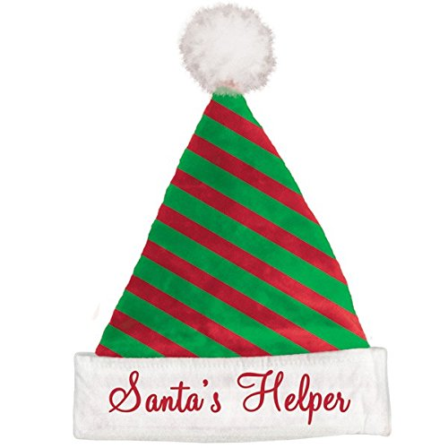 Amscan Fun-Filled Christmas & Holiday Party Striped Santa Hat (1 Pack), 15