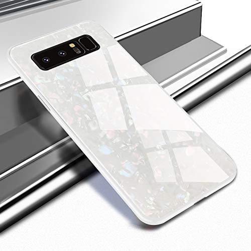EYZUTAK Shell Design Case for Samsung Galaxy S10e,Ultra Thin Tempered Glass Back Mimics Hard Cover Anti-Scratch Soft TPU Silicone Bumper Shockproof Case for Samsung Galaxy S10e - ()
