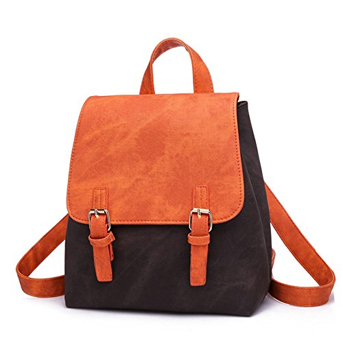 Fille Noir orange et Sac Dos à EqgPZR