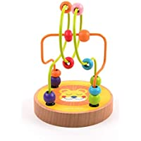 Mideer Mini Wire Bead Maze Puzzle Game Wooden Montessori Educational Toys for Children Baby Kids Gift - Edu Toys (Lion)
