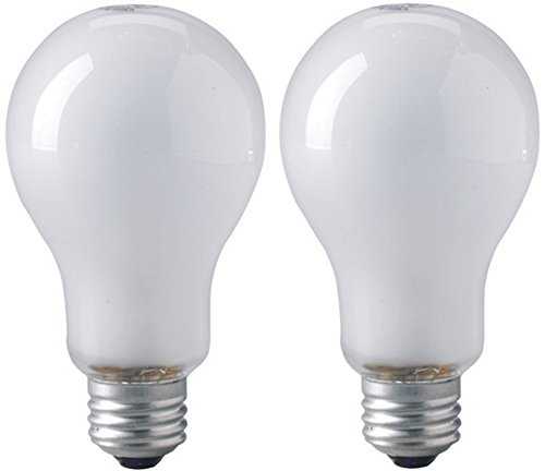 EiKO ECA Model ECA Inside Frosted Photoflood Light Bulb (2-Pack), 120 Voltage Rating, 250 Watts, 2.08 Amps, Medium Screw (E26) Base, A-23 Bulb, C-9 Filament, 5.52