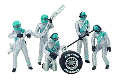 Carrera USA 20021133 21133 Figure Mechanices Realistic Scenery Accessory for Slot Car Race Track Sets, Silver from Carrera