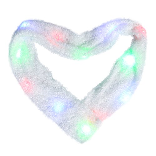 M AOMEIQI LED Scarf, Flashing Light Up Scarf Colorful 6 Mode Rave for Halloween Costume Party Toys Christmas ()