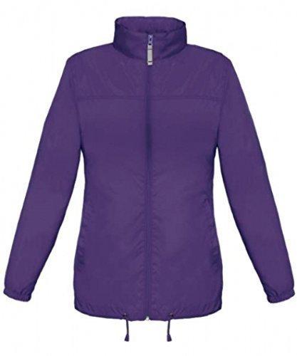 avec en Veste Impermable Impermable style coupe shirt Lady capuche vent Violet Basic T 56vwXqq