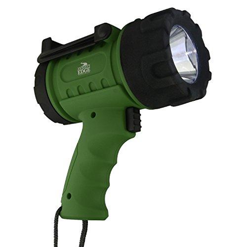 Journey's Edge Pistol Grip Waterproof Rechargeable LED Spotlight Flashlight, Green