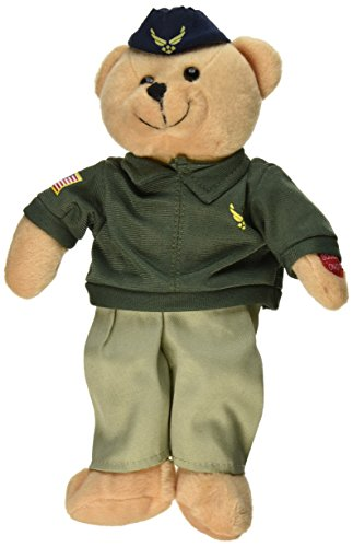 Plush Bear Chantilly Lane 11 Inch Singing Military Hero Air Force Wild Blue Yonder from Chantilly Lane