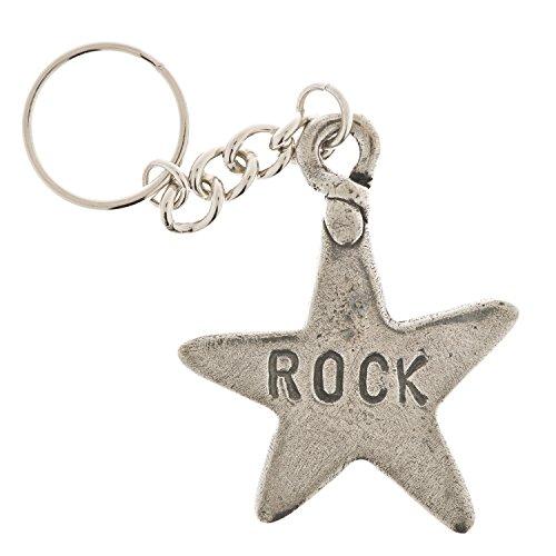 Rock Star Pewter Key Ring (Pewter Rock)