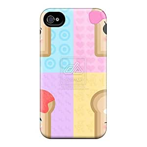 Protective Tpu Case With Fashion Design For Iphone 4/4s (toast)