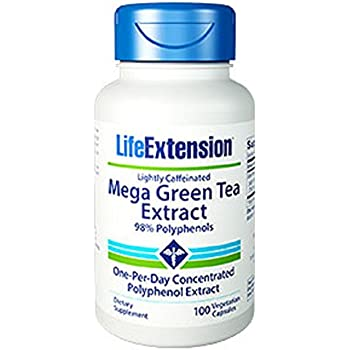 Life Extension Mega Green Tea Extract 98% Polyphenols, 100 vegetarian capsules