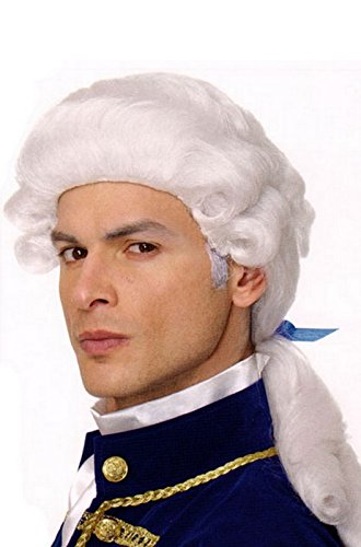 George Washington Wig Costume Accessory - George Washington Colonial Costumes Wig
