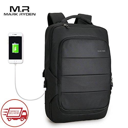 Mark Ryden Lux Series Zaino Per Laptop Resistente All'acqua 15.6 + Porta Di Ricarica USB Nero (Spedizione Express In 5 - 9 Giorni)