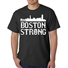 Boston Strong City Skyline Adult T-shirt Tee