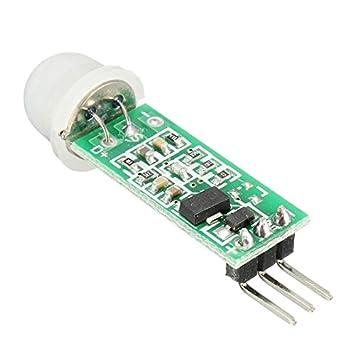 Ils - 5 Piezas HC-SR505 Mini Infrarrojos del Sensor de Movimiento PIR preciso Detector