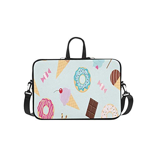 Cute Birthday Seamless Pattern with Different Swee Pattern Briefcase Laptop Bag Messenger Shoulder Work Bag Crossbody Handbag for Business Travelling
