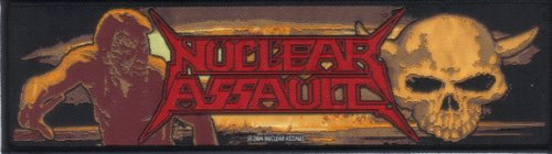 NUCLEAR ASSAULT-GAME OVER/SURVIVE-STRIP WOVEN PATCH ()