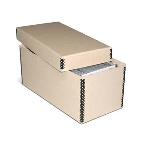 Print File Tan 2-piece CD/DVD Storage Box - 5.5x5.5x12