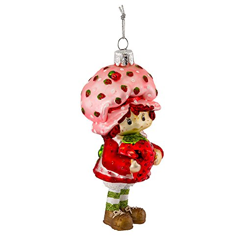 Kurt Adler 5-Inch Glass Strawberry Shortcake Ornament