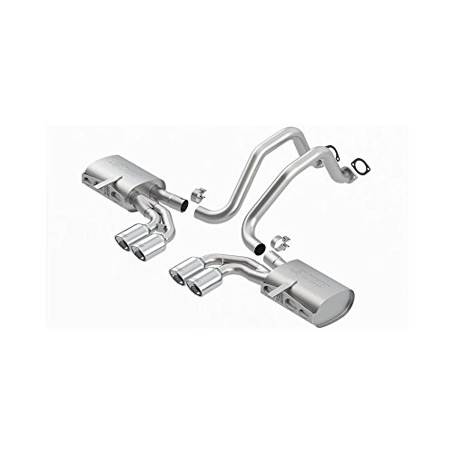 Borla 05-12 Chevy Corvete C6 6.0L V8 EC-Type Catback Exhaust Dual Round Rolled Angle-Cut Exhaust (1014018) (Dual Round Rolled Angle Cut)