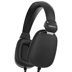 Betron HD500 Headphone,On Ear Headphones, Bass Driven Sound, Light Weight Black