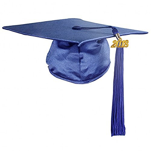 GraduationMall Shiny Finish Kindergarten Graduation Cap with Tassel 2018 (Kindergarten Graduation Caps)