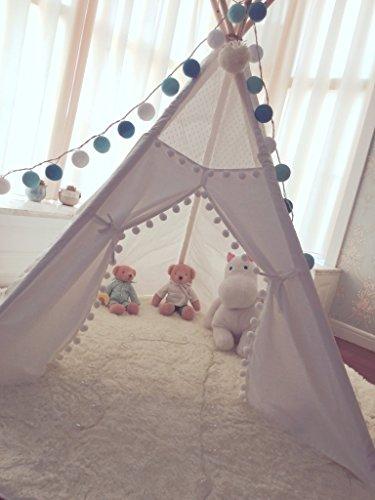 Kids Teepee Tent with 5 PolesPlay TentKids Teepee & Amazon.com: Kids Teepee Tent with 5 PolesPlay TentKids Teepee ...