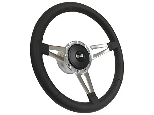 - Volante S9 Slotted 3-Spoke Super Sport Steering Wheel Kit compatible with 1969-1989 Chevrolet Passanger Vehicles