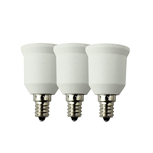 Shine-Co E12 to E26/E27 Adapters Converts Standard Screw-in Bulb Socket 3 Packs