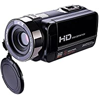 SODIAL(R) Camcorder 302S FHD Camcorder 1080p Digital Remote Control Infrared Night Vision with 2 batteries and Touchscreen (Black)