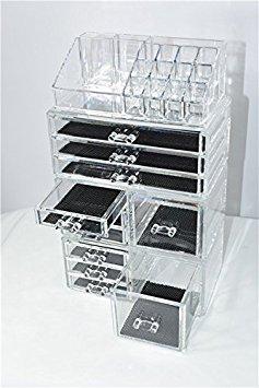 Unique Home Acrylic Jewelry & Cosmetic Storage Makeup Organi