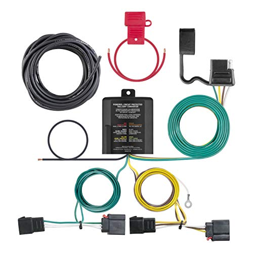 (CURT 56333 Vehicle-Side Custom 4-Pin Trailer Wiring Harness for Select Chrysler, Dodge, Jeep)