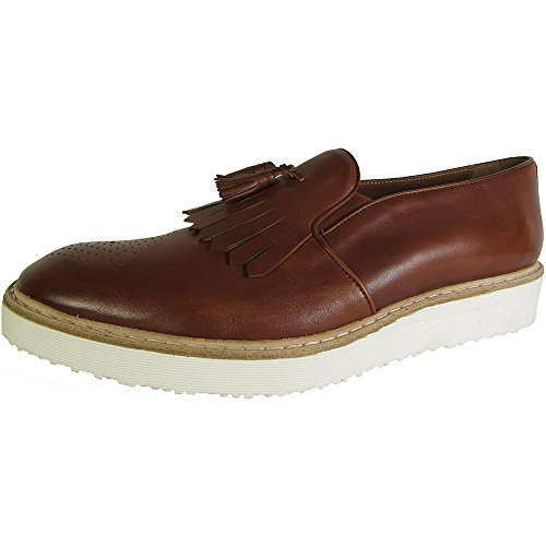 Donald J Pliner Signature Mens Mitch-D9 Tassel Loafer Shoes, Saddle, US 9