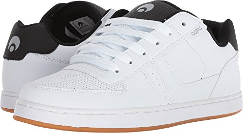 Osiris Men's Relic Skate Shoe, White/Black/Light Grey, 13 M (Osiris White Shoes)
