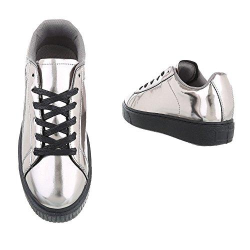 Grau Mujer Design bajo B3147B Ital Tobillo SP Silber qtXSTtfw