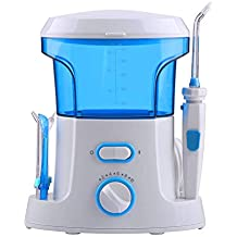 LSLMCS Water Flosser for Teeth Oral Irrigator Dental Family Flossers 600ml Capacity Rechargeable with Sterilizer Ipx4 Waterproof Tips Deep Cleaning Between Teeth,Kids and Adults Compatibl