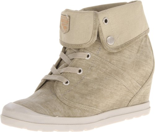 Rocket Dog Frenzy Blanched Canvas Hidden Wedge Sneaker, Natural, 7.5 B US