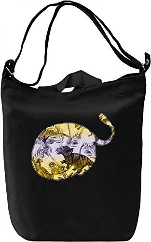 Sleepy Cat Borsa Giornaliera Canvas Canvas Day Bag| 100% Premium Cotton Canvas| DTG Printing|