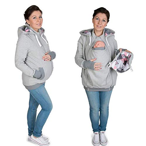 Se Baby Carrier Jacket Vestidos Sudadera Como Tamaño Espesar Medium Yingsssq Maternity color Sudaderas Muestra Muestra Xl PxqwECd