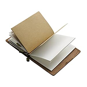 Vintage Leather Handmade Traveler notebook - Refillable, Perfect for Men & Women Writing, Gifts