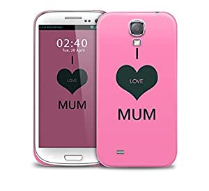 i love mum pink Samsung Galaxy S4 GS4 protective phone case