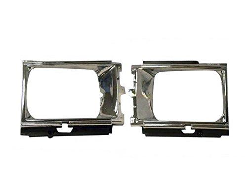 Bundle For 84-86 Toyota Pickup 2Wd Headlight Door Bezel Chrome/Black Lh + Rh
